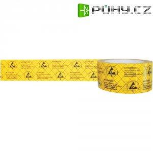 ESD lepicí páska BJZ C-195 005 -PP, 50 m x 50 mm, žlutá
