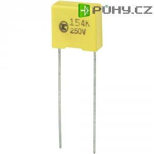 Foliový kondenzátor MKS, 0,15 µF, 250 V, 5 %, 13 x 6 x 12 mm