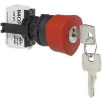 Nouzové tlačítko BACO L22GM01E (BAL22GM01E), 22,3 mm, šroubovací, červená