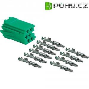 Mini ISO zástrčka AIV, 10 kontaktů, zelená
