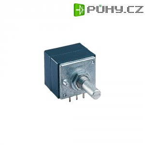 Stereo potenciometr s kovovou osou ALPS, 401502, 500 kΩ, 0,05 W , 0,05 W