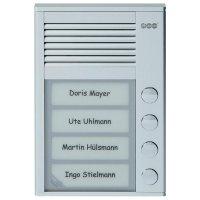 Domácí telefon Auerswald TFS-Dialog 104, 90620, 4 rodiny, stříbrná