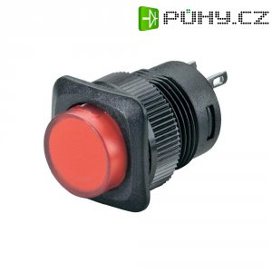 Tlačítko SCI, R13-508A-05RT, 250 V/AC, 1,5 A, vyp./(zap.), červená