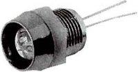 Objímka LED 3mm se závitem,pochromovaný plast ABS