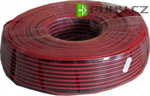 Dvojlinka 2x1,5mm2 16AWG červeno-černá, balení 100m