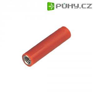 Šroubovací zásuvka 4 mm M4 MultiContact B4-E-IM4-I (23.1035-1), adaptér rovný, červená