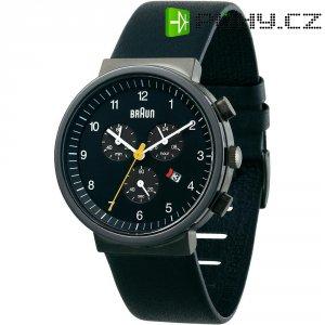 Ručičkové náramkové hodinky Braun Classic, 66544, kožený pásek, černá