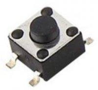 Mikrospínač 4,5x4,5mm v=3,8mm pro SMD