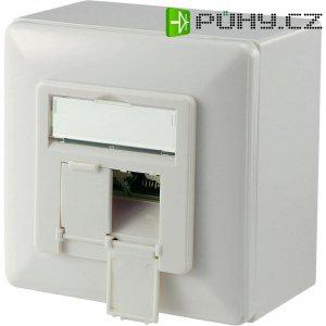 Síťová zásuvka pro povrchovou montáž 2x port, Digitus DN-9006-KL-N