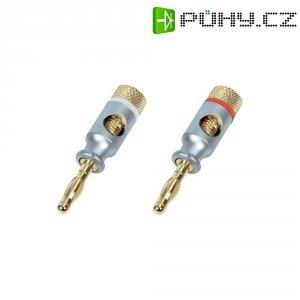 Bezpečnostní konektor, zástrčka rovná, Ø 4 mm, do 6 mm², 2 ks, červená/bílá