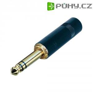 Jack konektor 6,35 mm stereo Rean AV NYS 228BG (NYS228BG), zástrčka rovná, ≤ 6 mm, 3pól., černá