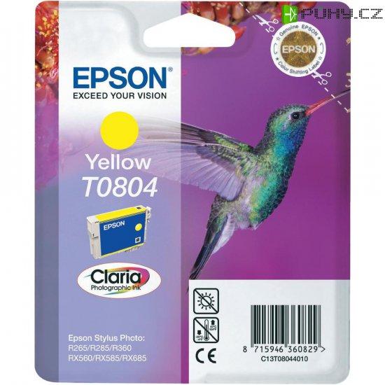 Cartridge do tiskárny Epson T0804, C13T08044011, žlutá - Kliknutím na obrázek zavřete