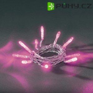 Vnitřní mikro vánoční řetěz Konstsmide, 20 LED, růžová