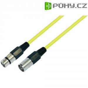 XLR kabel, XLR(F)/XLR(M), 5 m, žlutá