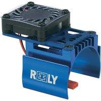 Hliníkový chladič se vsazeným ventilátorem Reely, pro motory 540, modrá