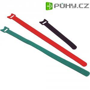Stahovací páska na suchý zip Fastech 260 x 13 mm, černá