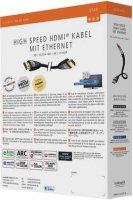 HDMI kabel s ethernetem, vidlice ⇒ vidlice, 1,5 m, černý, Inakustik