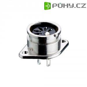 DIN kruhový konektor Lumberg 0107 04 přírubová zásuvka, rovná, Pólů: 4, stříbrná, 1 ks