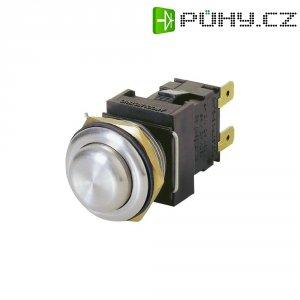 Tlačítko Arcolectric, H8350RP, 250 V/AC, 16 A, 2x vyp./zap., antivandal, IP66, nerez