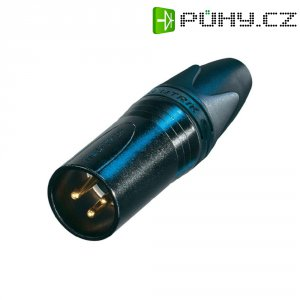 XLR kabelová zástrčka Neutrik NC 3 MXX-B, rovná, 3pól., 3,5 - 8 mm, černá