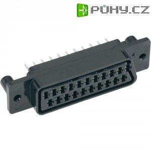 SCART konektor BKL 903012, zásuvka vestavná vertikální, 21pól., černá