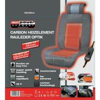 Vyhřívaný potah sedačky Profi Power Carbon Luxus