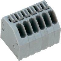 Pružinová svorkovnice 4nás. Push-In AK4191/4KDVP-2.5 (54191040051F), 2,5 mm, šedá