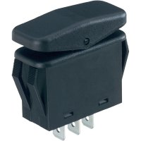 Kolébkový spínač SCI R13-258I, 1x (zap)/vyp/(zap), 14 V/DC, černá