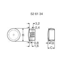 Záslepka PB Fastener 430 2774, 11,5 mm, Ø 48,4 mm, bílá