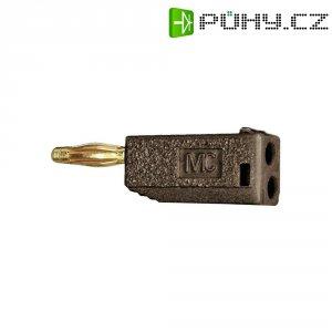 Lamelový konektor Ø 2 mm MultiContact 22.2615-27, zástrčka rovná, hnědá