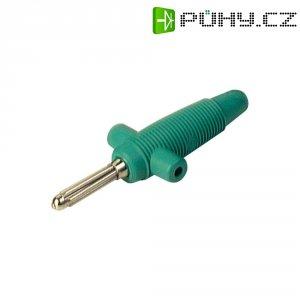 Banánkový konektor Ø pin: 4 mm SKS Hirschmann Buela 300 K, zástrčka, rovná, zelená, 1 ks