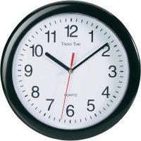 Quartz nástěnné hodiny EuroTime 22221, vnější Ø 25 cm, černá