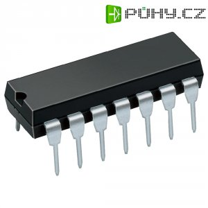 Operační zesilovač 4kanálový STMicroelectronics LM324N, DIP 14 (standard)