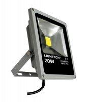 LED reflektor venkovní 20W/1300lm, AC 230V, STUDENÁ, šedý