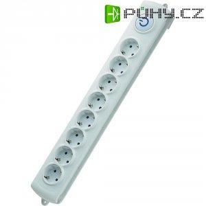 Zásuvková lišta s nožním spínačem GAO EMP308K, 8 zásuvek, 3680 W, bílá