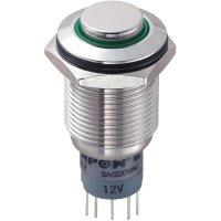 Tlačítkový spínač antivandal TRU Components LAS2GQH-11ZE/G/12V/S/P, 250 V/AC, 3 A, 1 ks
