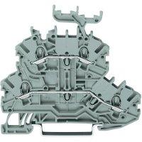 Dvojřadá svorka průchozí Wago 2000-2231, se štítkem, pružinová, 3,5 mm, šedá