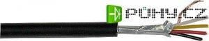 Stíněný kabel čtyřžilový - 4x, společné stínění