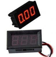 Voltmetr panelový LED červený, 0-30V