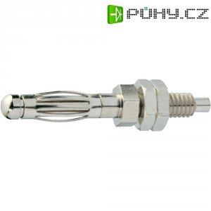Bezpečnostní konektor SCI, zástrčka rovná, (Ø) 4 mm, stříbrná