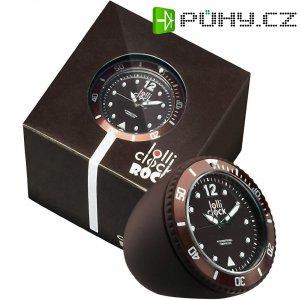 Analogové stolní hodiny Lolliclock, 44 x 44 x 47 cm, hnědá