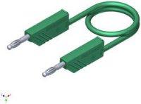 Měřicí silikonový kabel SKS Hirschmann, 1 mm², délka 1,5 m, zelená