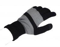 Rukavice pro dotykové displeje - pánské, černo-šedé (22x12 cm)