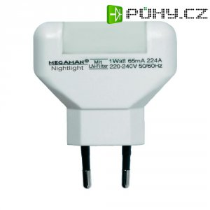 Noční LED svítidlo Megaman, MM001, 0,2W, teplá bílá/bílá