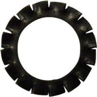 Vějířovité podložky TOOLCRAFT A2,2 D6798 194749 DIN 6798, Ø: 2,2 mm, 100 ks