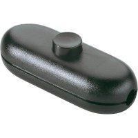 Šňůrový vypínač interBär , 1pólový, 250 V/AC, 2 A, černá
