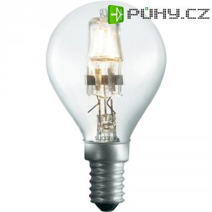 Halogenová žárovka Sygonix, E14, 42 W, 76 mm, stmívatelná, teplá bílá