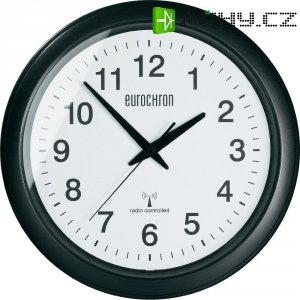 Analogové nástěnné DCF hodiny Eurochron EFWU 4602, černá/bílá