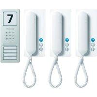Domácí telefon Siedle, SET CA 812-3 BS/W, 3 rodiny, bílá