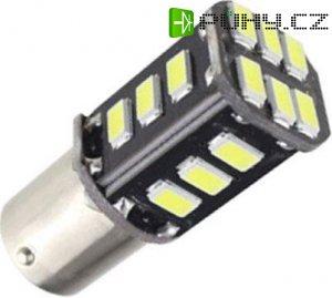 Žárovka LED Ba15S 12V /3,5W, bílá,CANBUS, 18xSMD5730